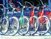 Bikes in a Row by RD Riccoboni
