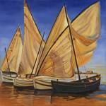 Evening Sailboats I