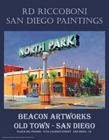 Beacon Artworks North Park Sign San Diego Poster