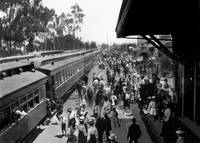 Arrival of First Santa Fe Passenger Train into Eme by WorldWide Archive