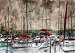 sail boats sailing boating art print Posters