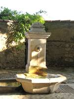 French village fountain