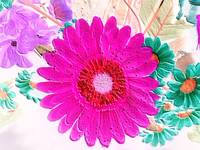 Embossed & Alive - flower collage cool pink