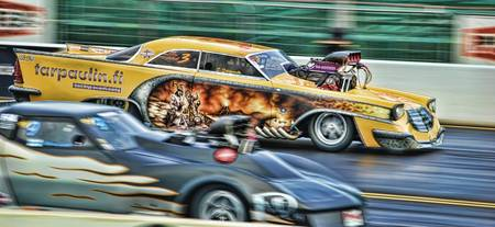 Pro-Modified Drag Racing at Santa Pod, UK