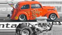 Super Comp Drag Racing at Santa Pod, UK