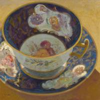 The Very Old Antique Teacup Art Prints & Posters by Sharey Monk