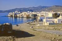 Harbour, Mykonos, Greece, 1960 by Priscilla Turner