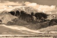 Great Sand Dunes in Sepia
