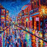 """Twilight on Bourbon Street"" by neworleansartist"