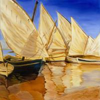 Evening Sailboats II
