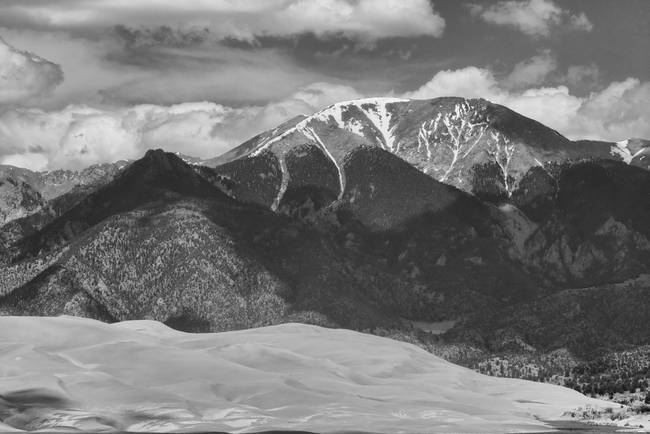 The Great Colorado Sand Dunes  125 Black and White