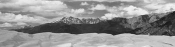 Sand Dunes Panorama 1 Black and White