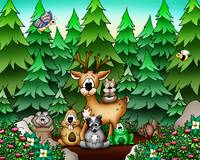 Forest Animals with Deer
