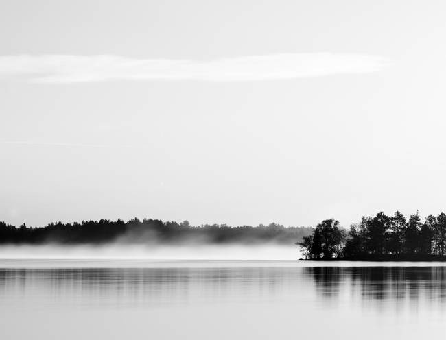 Fog on Lake Shagawa