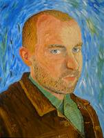 Self-Portrait with Leather Jacket