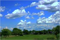Sky over golfcourse
