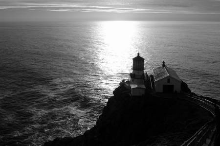 Point Reyes Lighthouse - Black and White