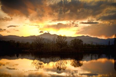 Colorado Sunset Reflection