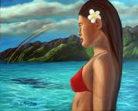 Polynesian Girl Facing Future