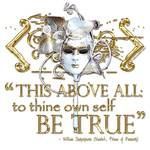 "Hamlet ""Own self be true ... "" Quote Posters"
