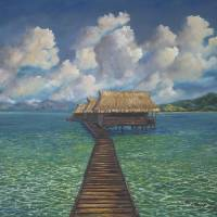 French Polynesia Paradise Dwelling Art Prints & Posters by Kathy McCartney