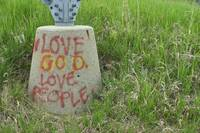 Graffiti Love God Love People