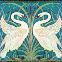 WALTER CRANE TWIN SWANS Art Prints & Posters by Grant Devereaux