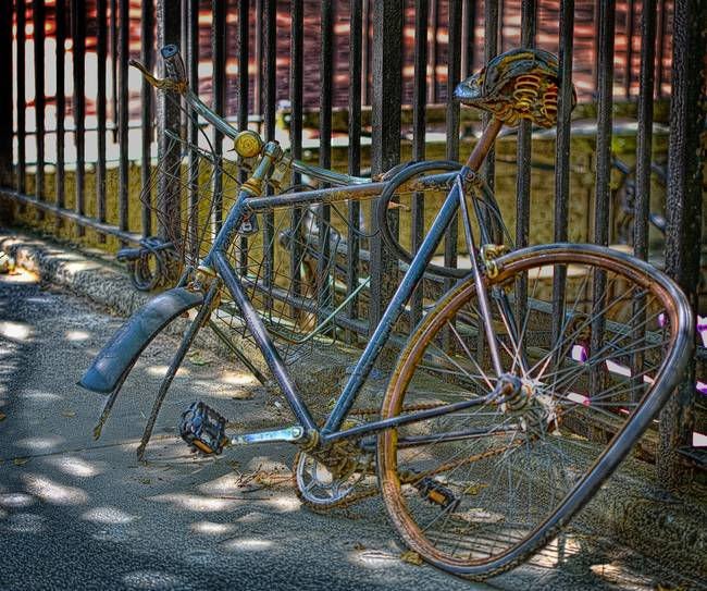 Bike on Blecker Street NYC