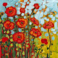 """""""Red Poppy Field"""" by JENLO"""