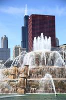 Chicago Skyline and Buckingham Fountain 2010 #2