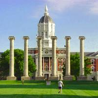 """Jesse Hall and Columns, University of Missouri"" by ArtSmith"