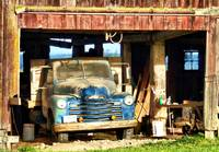 Red Barn Blue truck