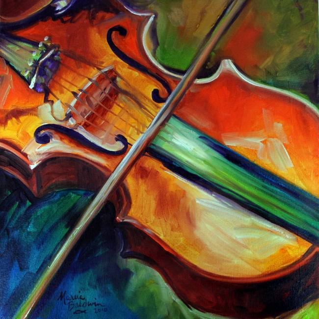VIOLIN ABSTRACT 06 By Marcia Baldwin