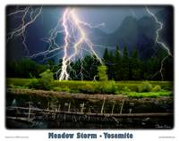 Yosemite- Meadow Storm