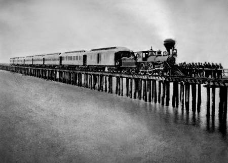 Oakland Long Wharf, Transcontinental Railroad