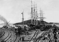 Oakland Long Wharf c1870 by WorldWide Archive