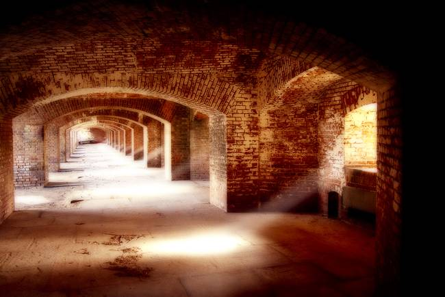 Arches and Beaming Light, Fort Jefferson, Dry Tort
