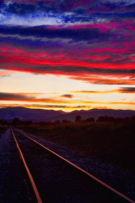 Train Track Sunset