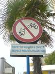 Respect means civilization - Italian sign
