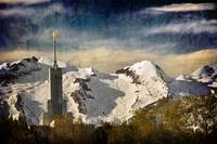 mount timpanogos temple snowy backdrop spring 3 te