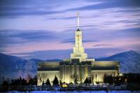 Mount Timpanogos Temple cool sunset 12 31 09 2