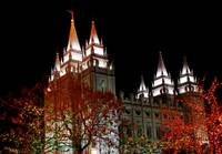 Salt lake temple Christmas lights north east 2 dar