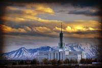 mount timpanogos temple like sunset clouds texture