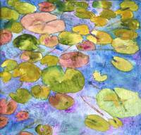 Watercolor Waterlilies, Watercolor Painting Art