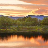 """Boulder County Lake Sunset Landscape 06262010"" by lightningman"