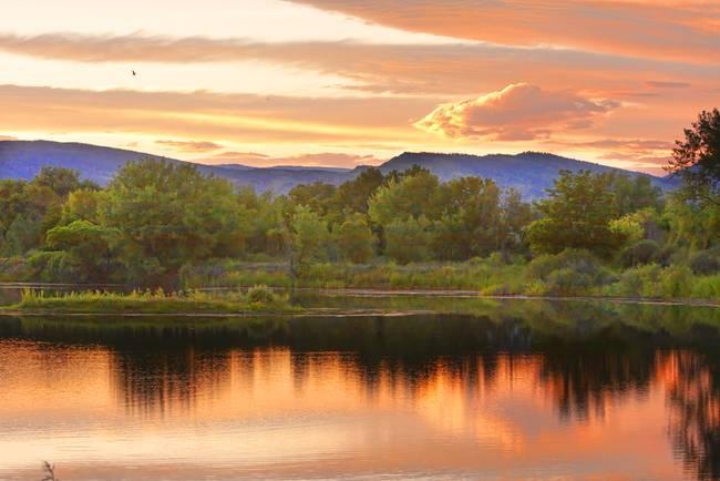 Boulder County Lake Sunset Landscape 06.26.2010