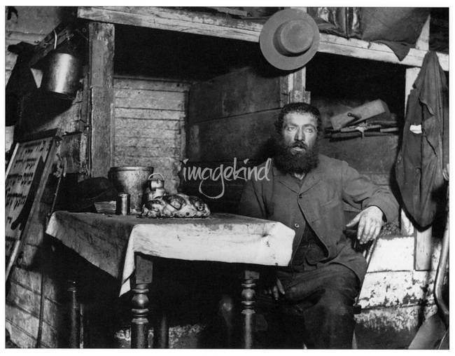 Sabbath Eve in a Coal Celler by Jacob Riis