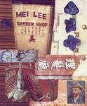 mei lee barber shop collage Posters