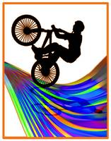 BMX on a Rainbow Road
