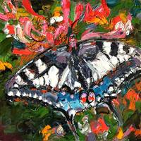 Butterfly Oil Painting by Ginette Callaway by Ginette Callaway